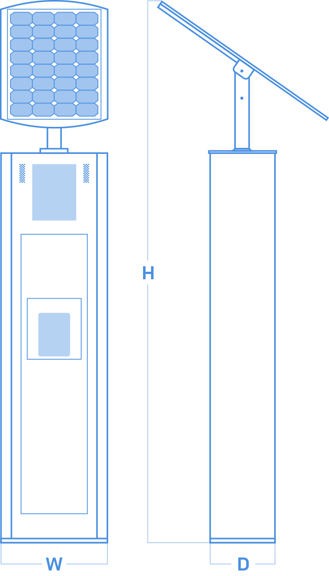 blueprint illustration of SmartStop physical dimensions