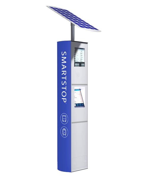 CHK Connectpoint SmartStop solar-powered transit information pylon