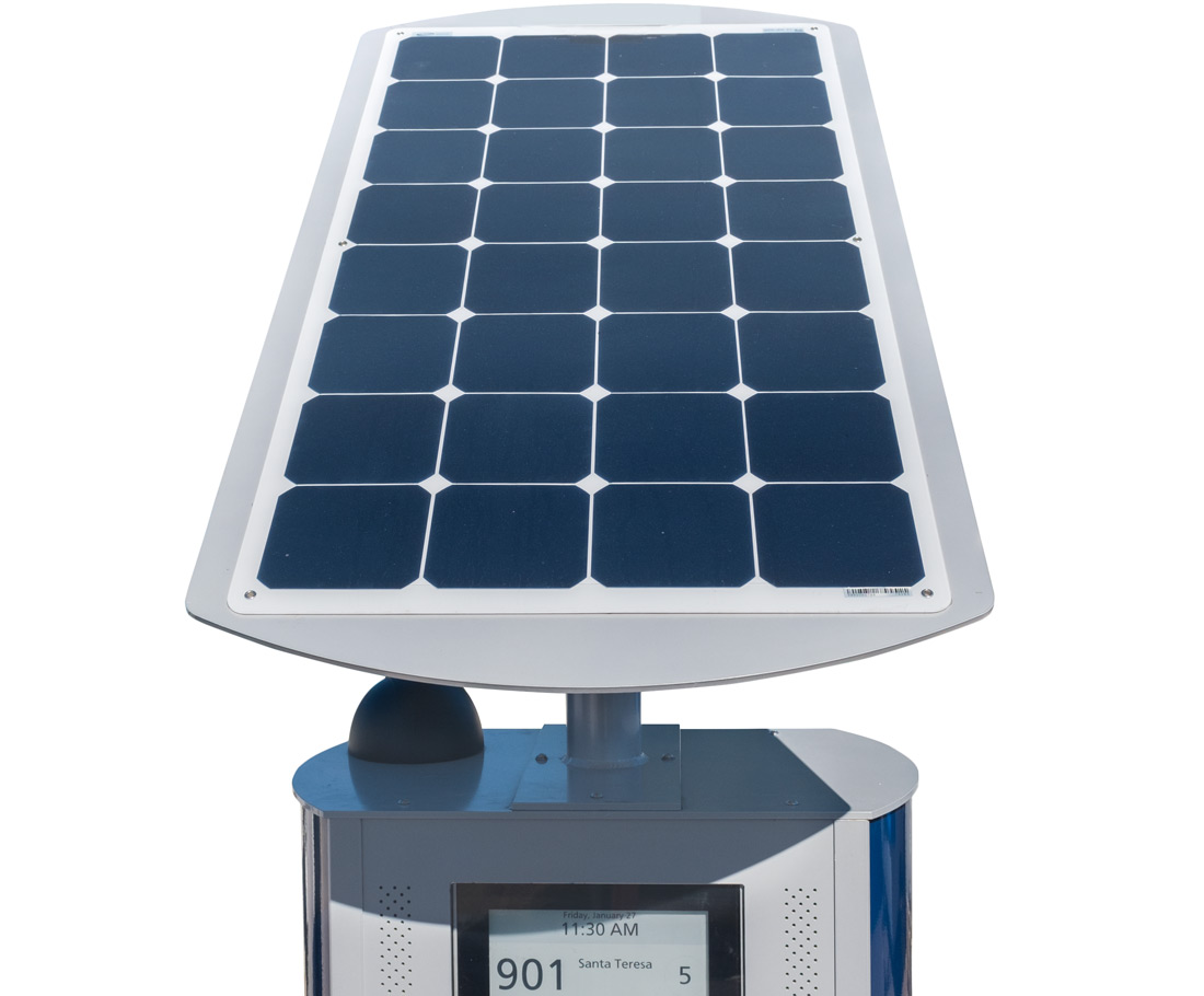 top view of SmartStop's solar panel
